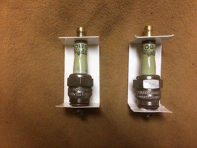 C18S spark plugs porcelain top NOS vintage Bowers Ceramite Sealed NIB pair