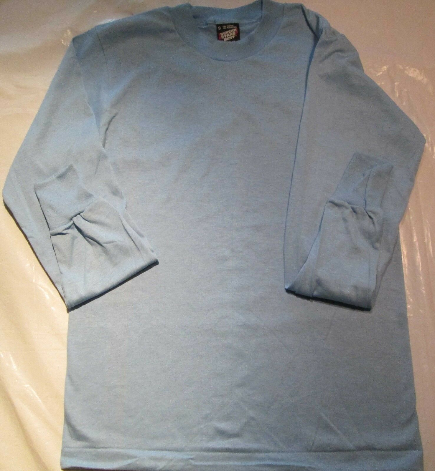 100 Pc Fruit of The Loom Long Sleeve light bluee T-Shirt Small  50 50