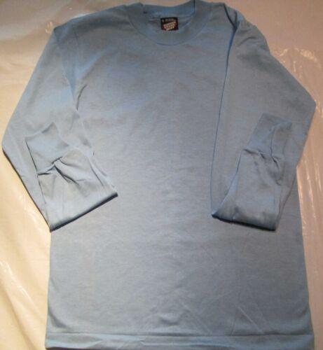 Women Men Long Sleeve T-Shirt 8 PC Vintage Light Blue Small Fruit of  Loom