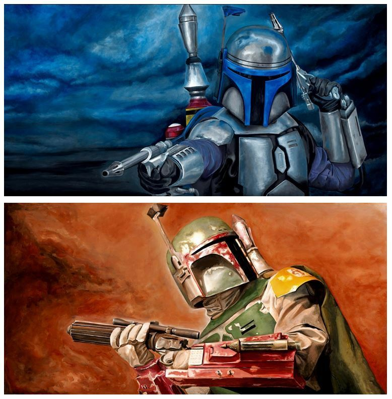 Bounty Hunter Father Like Son Jango Fett Boba Fett Star Wars Fine Art Portraits
