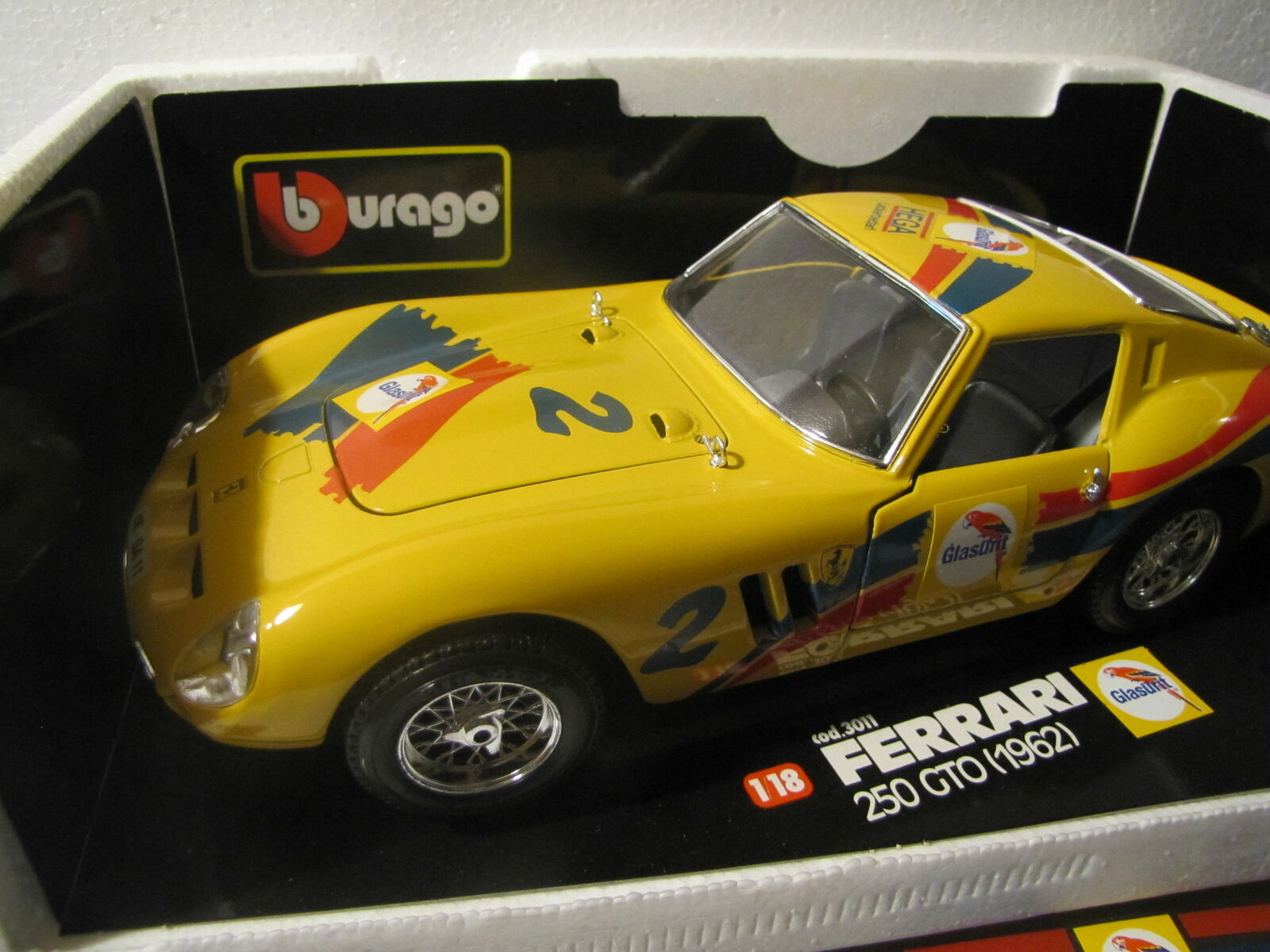 Ferrari 250 GTO    Glasurit   1 18   Bburago   08-05   neuf dans sa boîte  livraison gratuite