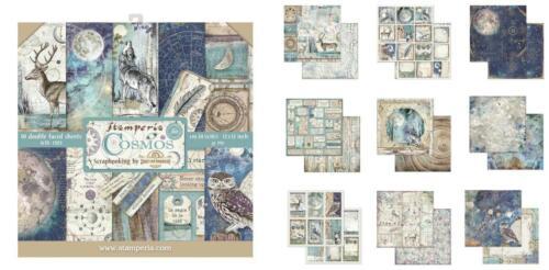 10x scrapbooking papier 30,5 cm Fantasy Alice Cosmos Wolf Paper Pad Stamperia