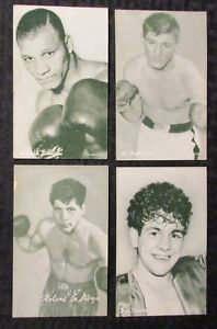 ARCADE-EXHIBIT-Boxing-Card-LOT-of-4-FN-FN-Johnson-Andrews-LaStarza-Dower