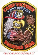 "Camp Victory  Station-3 fire patch Iraq 3.75/"" x 4.25/"" size O.I.F Baghdad"