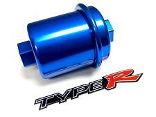 Blue Racing High Flow Washable Fuel Filter For 96 00 Honda Civic Ek Jdm Emblem