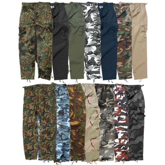 d1de830d199e1f Mil-Tec US Army Ranger Trousers Cargo Work Combat Mens Military ...