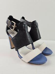 FRANCO-BUGATTI-T-Bar-Leather-Strappy-Open-Toe-Sandal-High-Heel-Women-039-s-Size-EU38