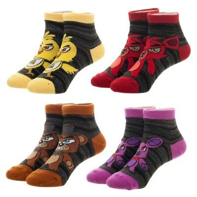Five Nights At Freddy/'s Youth 4 Pairs Of Ankle Socks NEW IN STOCK