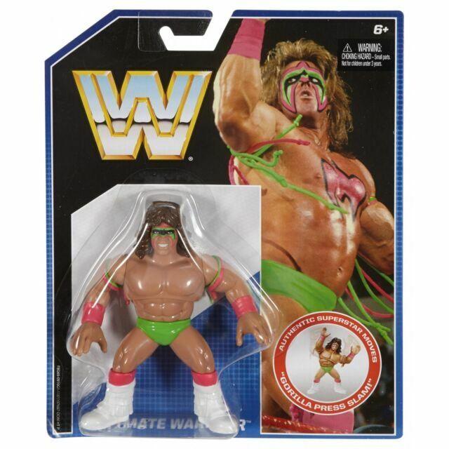 MATTEL WWE RETRO ULTIMATE WARRIOR WWF  FIGURE SHIPS WORLDWIDE 1ST CLASS