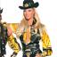 GIANNI-VERSACE-black-cowgirl-leather-vest-gold-studs-fur-collar-1993-bondage 縮圖 2