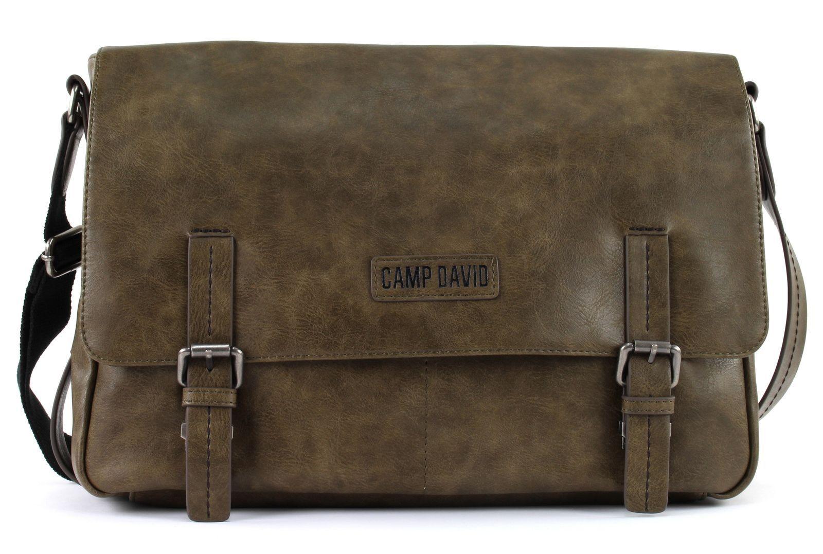 CAMP DAVID Mount Bear Messengerbag Umhängetasche Tasche Khaki Braun Neu | Lebhaft  | Good Design  | Neuer Stil