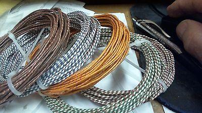 4-wire 22ga Western Electric cloth,SILK wire RARE 1940s 12 ft  coil of QUAD