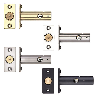 Door Rack Bolt Satin Chrome with or without Star Type Security Key 61mm