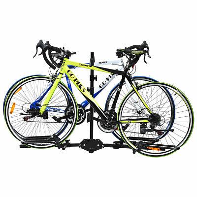 "2 Bike Carrier Platform Hitch Rack Bicycle Rider Mount Sport Fold Receiver 2/"""