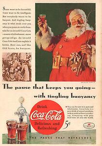 SANTA CLAUS COMPLETE SET U.S VINTAGE COCA-COLA ADVERTISING CHRISTMAS STAMPS