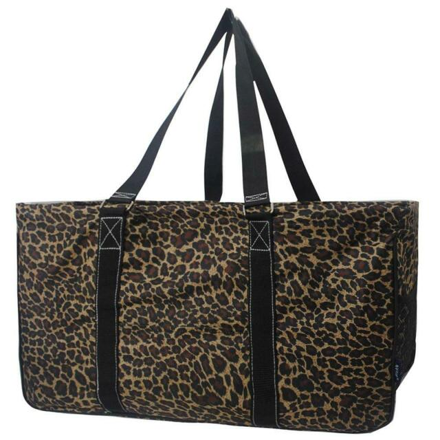 """Canvas Classic XL All Purpose Open 23"""" Utility Tote Bag NGIL Leopard Print"""
