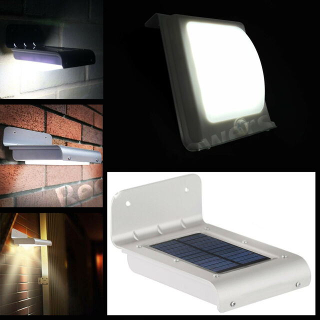 Solar Power Motion Sensor 16 LED Waterproof Garden Guard Lamp Outdoor Light wall