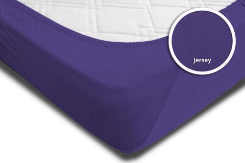 Spannbettlaken Babybett Kinder lila violett 60 x 120 cm 70 x 140 cm Jersey