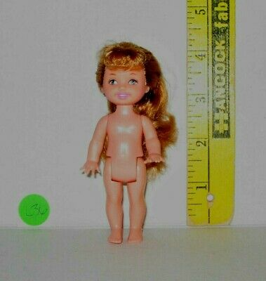 MATTEL NUDE CE Barbie KELLY CLUB GOLDEN HINT RED HAIR 4 INCH DOLL For OOAK L36