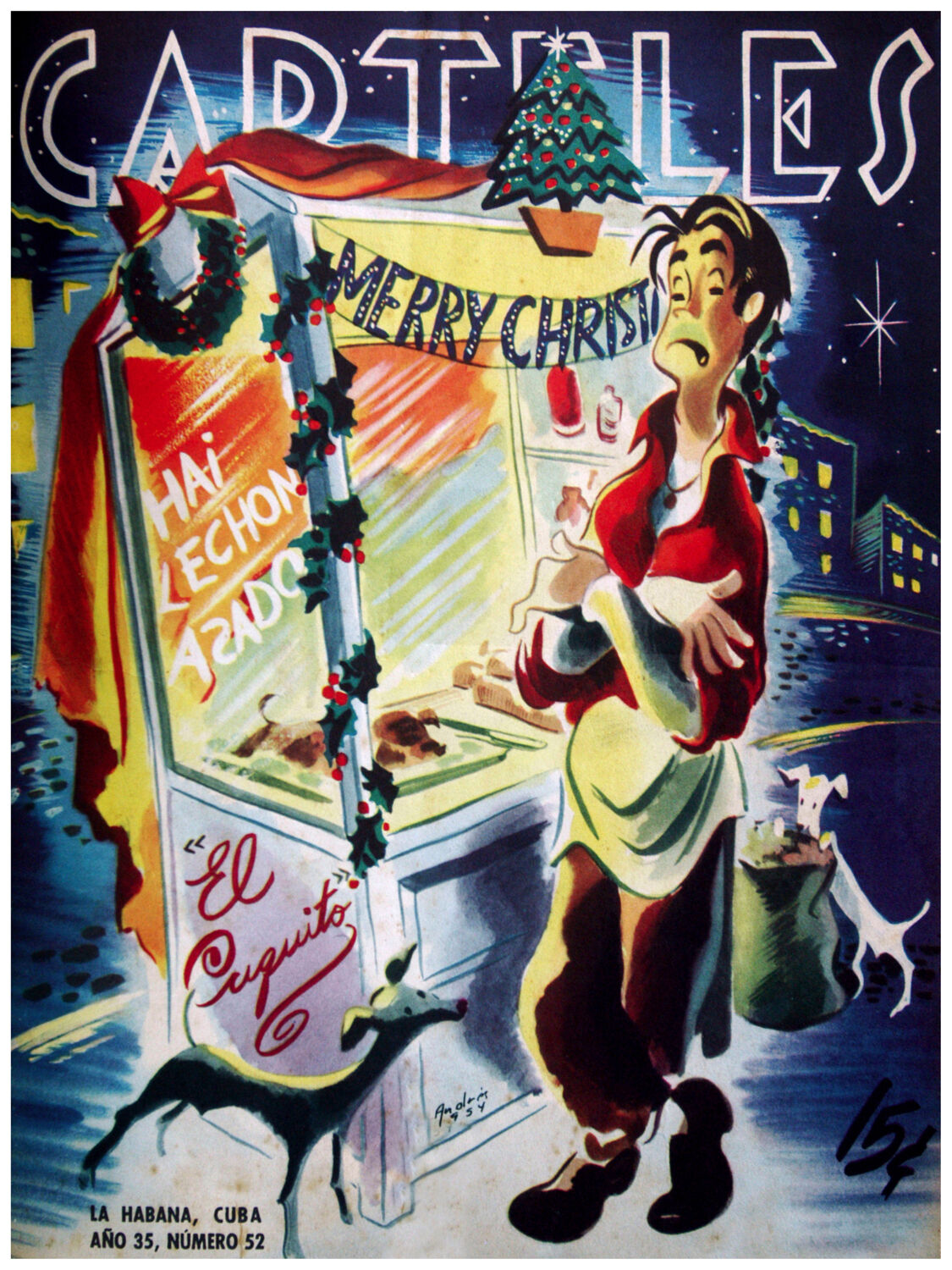 196.Decoration wall design Design poster Cuquito Can't Celebrate Christmas poor