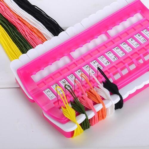 Cross Stitch Row Line Plastic Thread Board Organizer Embroidery Accessory XS