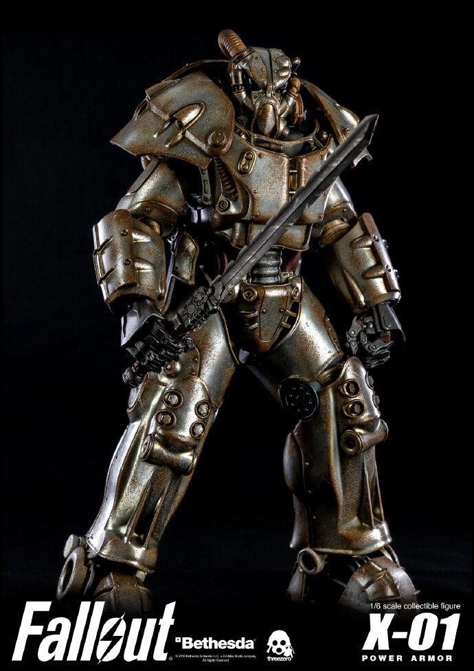 Threezeero X Bethesda 3Z0118 1  6th FALlåg4 X -01 Power Armor Figur Colelctible