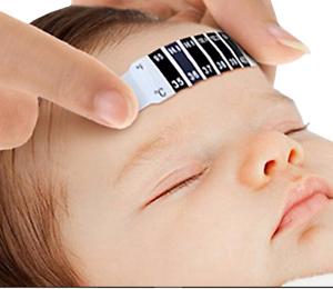 Termomether Baby Kinder Stirn Fibertermomether Temperatur Tester Streifen Band