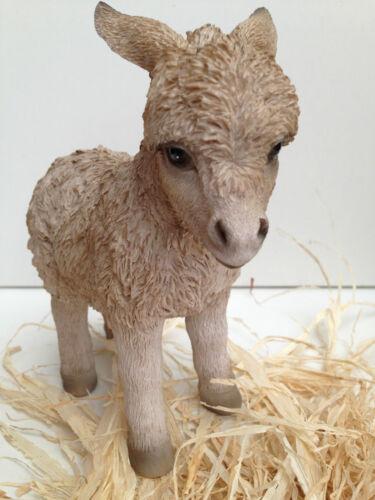 "Donkey Little Cream Donkey Farm Animal Vivid Art Pet Pals 6/"" Boxed"