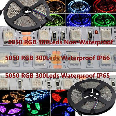 5M SMD 5050 150 / 300 LEDs Waterproof LED Strip + 24/44 Key IR Remote Controller