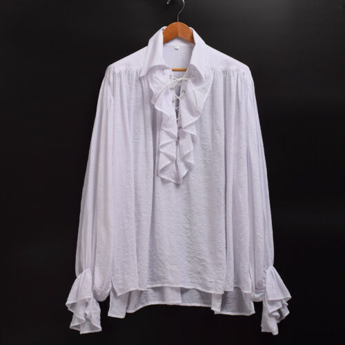Vampire Colonial Gothic Shirt Ruffled Renaissance Medieval Poet Pirate Blouse