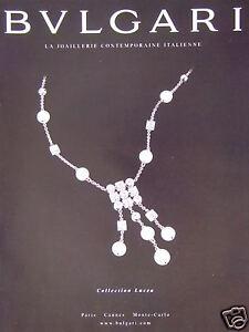 PUBLICITÉ 2002 BULGARI LA JOAILLERIE CONTEMPORAINE ITALIENNE - ADVERTISING