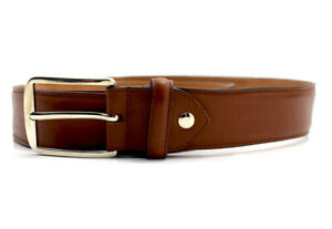innovative design 785ee 6c1a8 Details about ShoePassion Classic Mens Leather Belt Brown Size 36