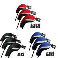 3pcs Golf Club Head Covers - 1,3&5 Wood Driver Head Covers Set Replacement Qw