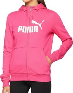Puma-Essentials-Logo-Full-Zip-Womens-Fleece-Hoody-Pink