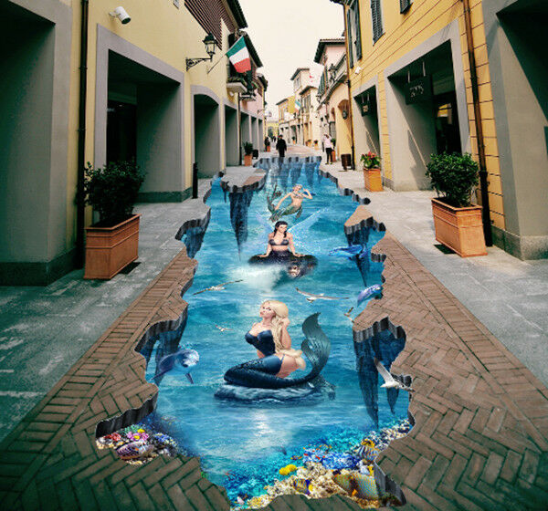 3D Mermaid Sea 80 Floor WallPaper Murals Wall Print Decal AJ WALLPAPER US Carly