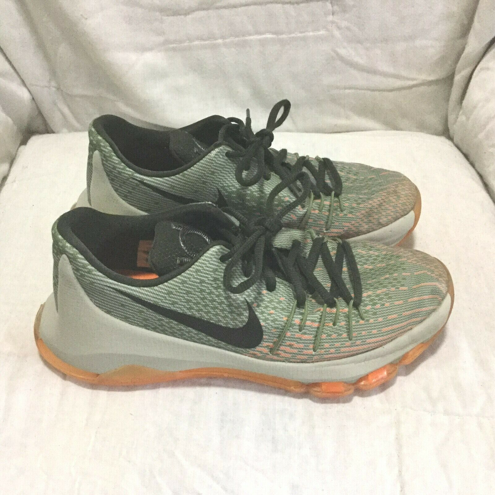 NIKE KD 8 KEVIN DURANT BASKETBALL SHOES - MULTI COLOR ( SIZE 7Y ) YOUTH