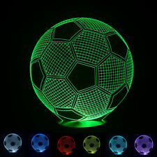 Ball 3D LED USB Football Soccer Lamp Color Changing Desk Night Light B500