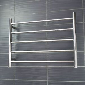Details about RADIANT NON-Heated Towel Rail/Rack ROUND Bar Mirror Polish  600 x 550mm [LTR03-60