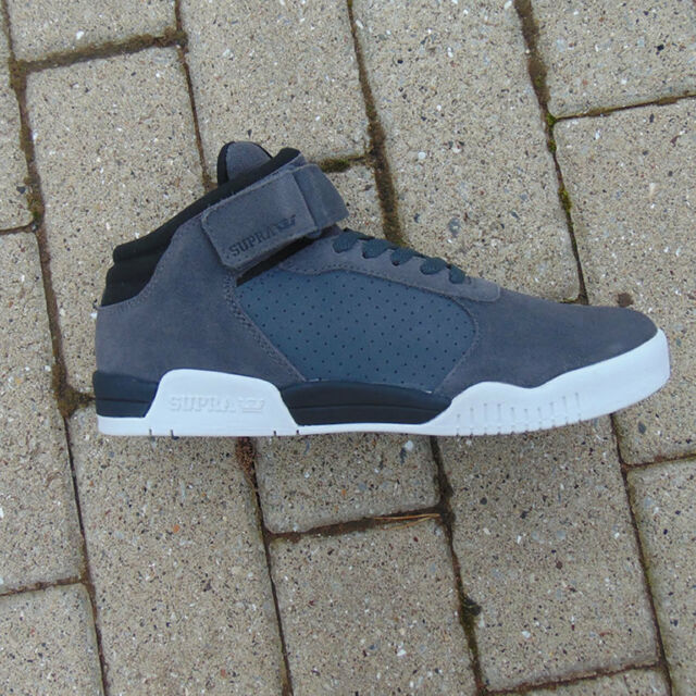 69c0ee4ae845 Supra Ellington Strap Dark Grey Black - White UK 9 mens trainers brand new