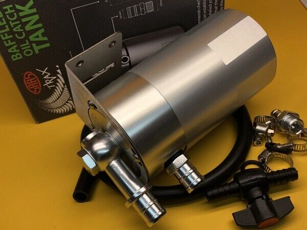 0.5L 16mm Oil catch can breather tank Aluminium billet Polished SAAS ST1015