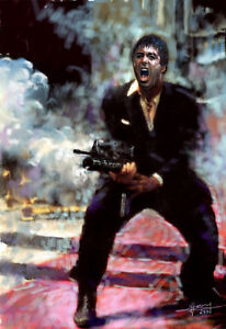 Al Pacino Scarface Say Hello To My Little Friend Art Print On
