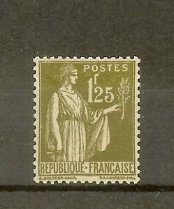 FRANCE-STAMP-TIMBRE-N-287-034-TYPE-PAIX-1F25-OLIVE-034-NEUF-xx-SUP