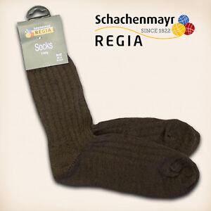 2-Paar-Regia-Gr-42-43-034-Fertigsocken-034-Mocca-Schachenmayr-Sockenwolle-Socken