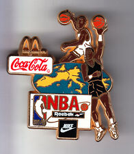 RARE BIG PINS PIN'S 3D .. COCA COLA COKE NIKE BASKET BALL NBA REEBOK TEAM ~15