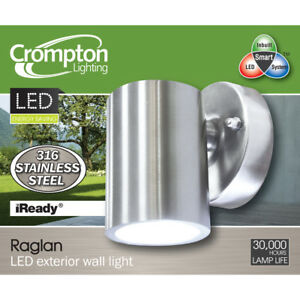 316-Stainless-Steel-LED-Outdoor-Exterior-Fixed-Wall-Light-240V-3W-Warm-White