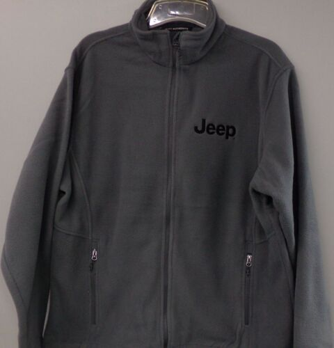 Jeep Mens Embroidered Full Zip Fleece Jacket XS-6XL New