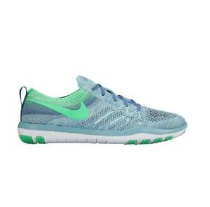 sale retailer 27c57 af542 Image is loading Womens-NIKE-FREE-TR-FOCUS-FLYKNIT-Blue-Green-