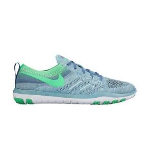 Nike da donna Free Tr FOCUS flyknit blu verde Scarpe da corsa 844817 402