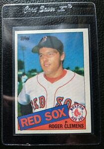 1985-TOPPS-181-ROGER-CLEMENS-ROOKIE-CARD-RC-BOSTON-RED-SOX-NEAR-MINT-OC