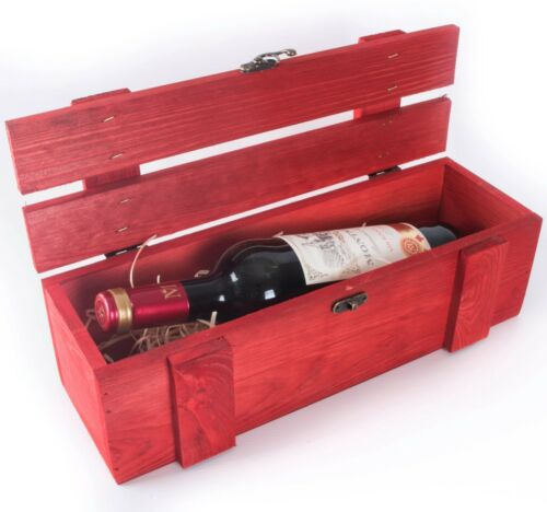 Wooden Bottle Display Presentation Boxes //Gift Box Carrier Crate Storage Case